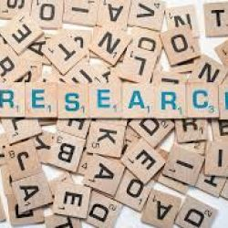 Photo of Scrabble letters spelling Research